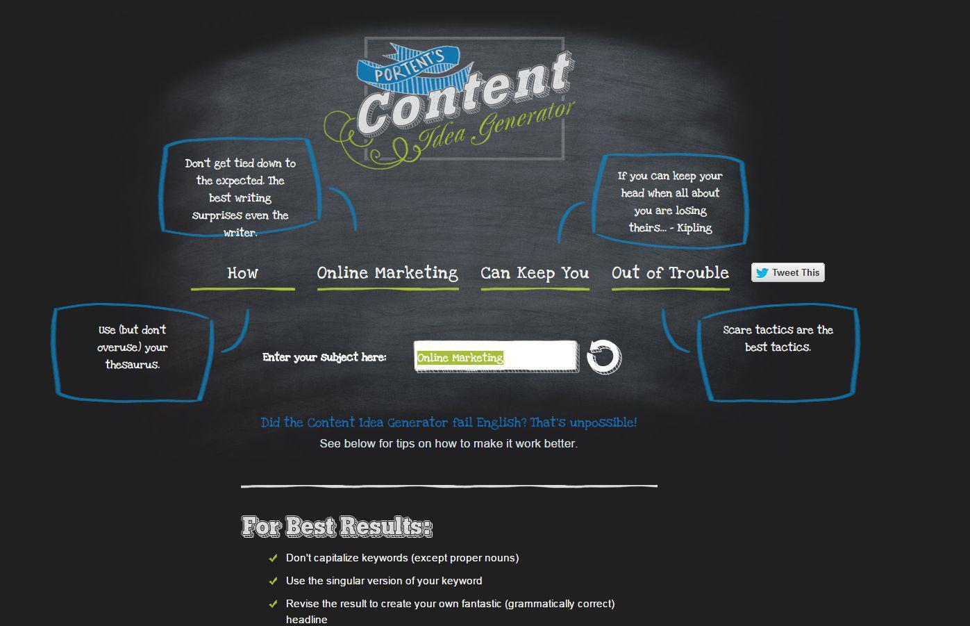 Mit diesen 12 tools finden sie den besten viralen content for Portent title maker