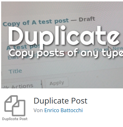 Das Plugin Duplicate Post auf Wordpress.org