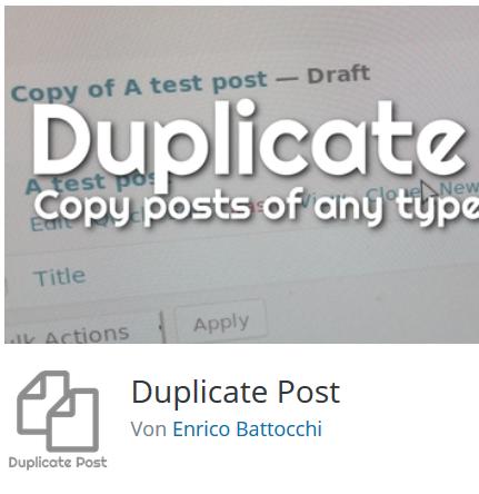 Das Plugin Duplicate Post auf Wordpress.org
