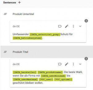 Screenshot Webinterface Unique Content Erstelliung
