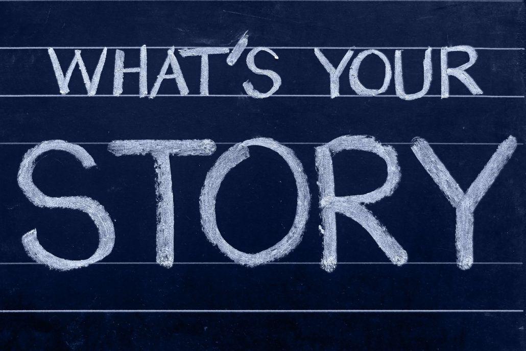 Bild von Schriftzug whats-your-story